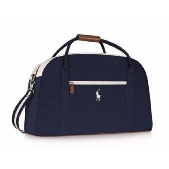 Polo Ralph Lauren navy blue and white duffel bag ee8e5a2669e60